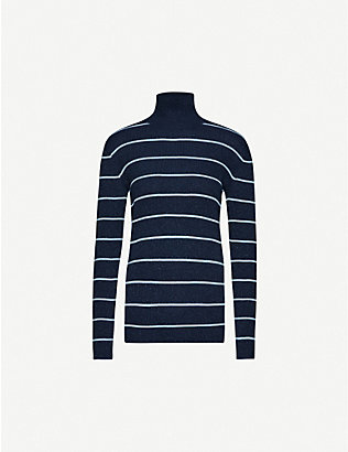 WON HUNDRED: Norah striped metallic-knit jumper