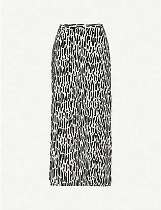 WON HUNDRED: Carol high-waist printed stretch-jersey midi skirt