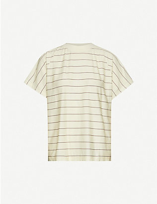 WON HUNDRED: Brooklyn striped organic cotton T-shirt