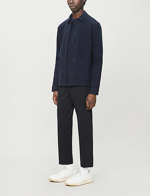 SAMSOE & SAMSOE Crostolo knitted-panel wool jumper