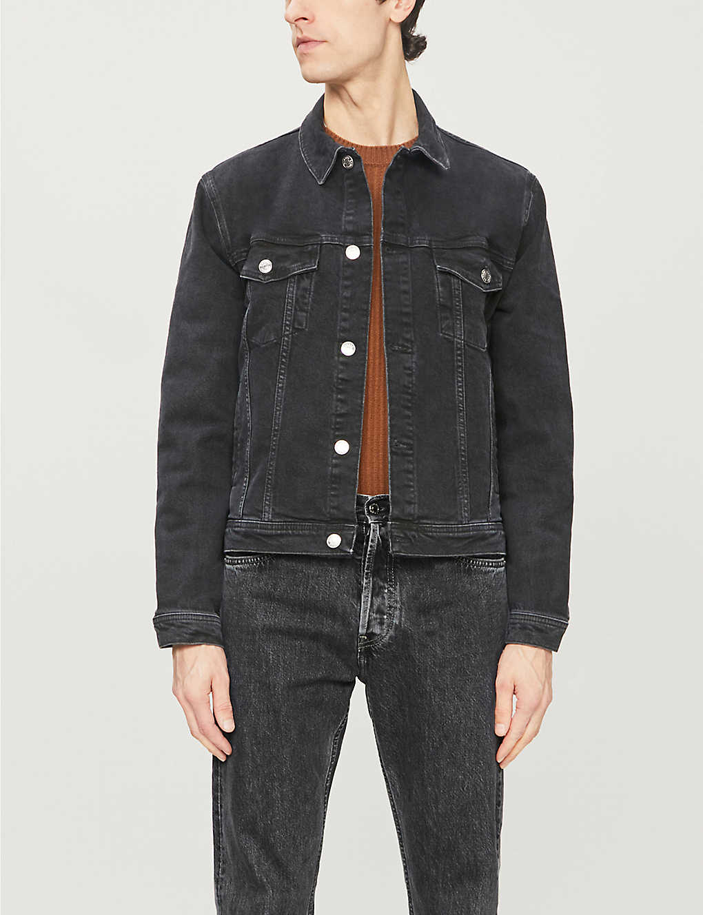 SAMSOE & SAMSOE: Laust button-through denim jacket