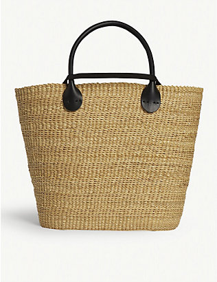 MUUN: Bony straw bag