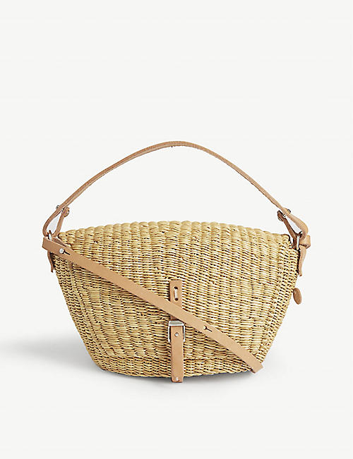 MUUN: Fille Holly straw crossbody bag