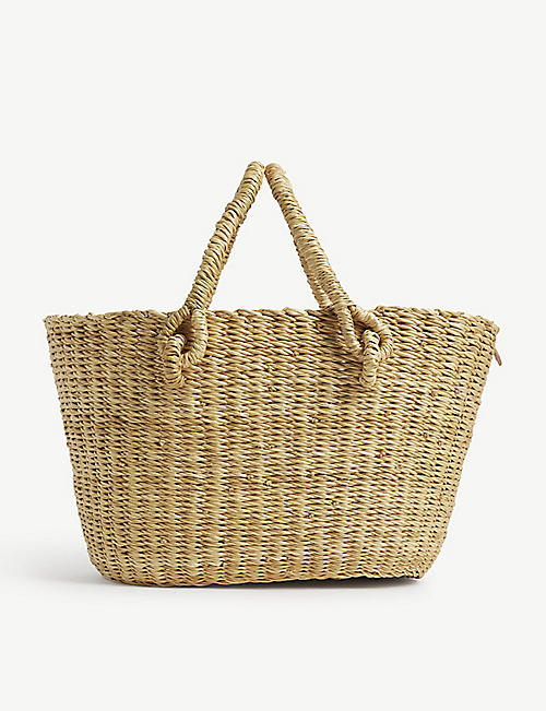 MUUN: Micro Claudia straw bag with pouch