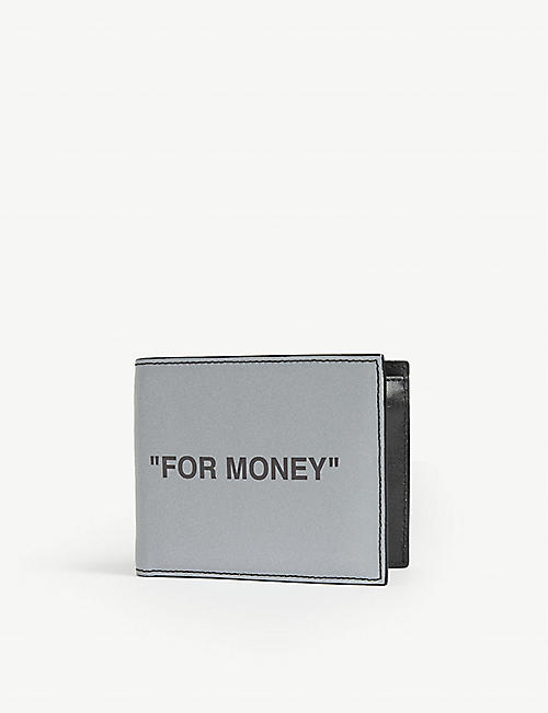 "OFF-WHITE C/O VIRGIL ABLOH ""For money"" leather wallet"