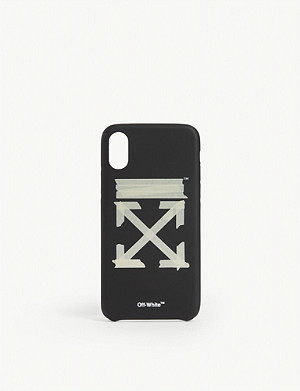OFF-WHITE C/O VIRGIL ABLOH Tape arrow logo iphone xs cover