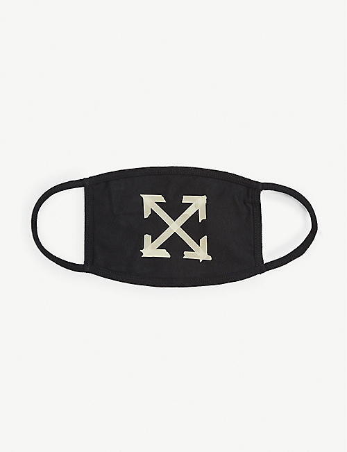 OFF-WHITE C/O VIRGIL ABLOH Brushed arrows cotton face mask