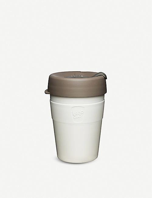 KEEPCUP: Latte stainless-steel reusable coffee cup 340ml
