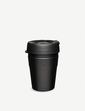 KEEPCUP Black stainless-steel reusable coffee cup 340ml