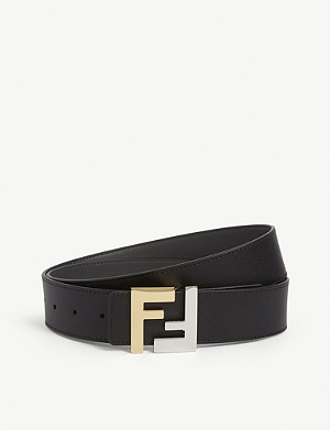 FENDI FF logo reversible leather belt
