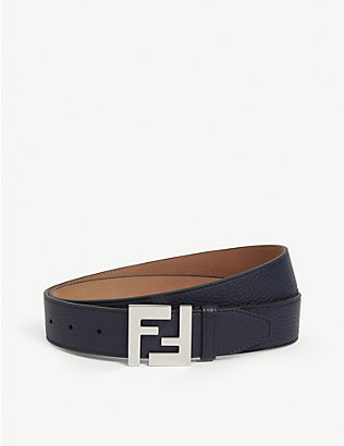 FENDI: FF buckle leather belt