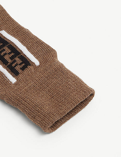 FENDI FF logo wool gloves