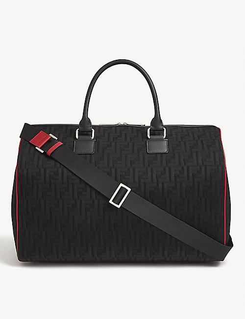 FENDI: FF logo neoprene duffle bag
