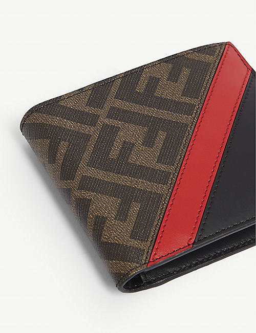 FENDI FF logo coated canvas bifold wallet