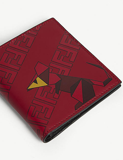 FENDI Origami mouse print leather wallet