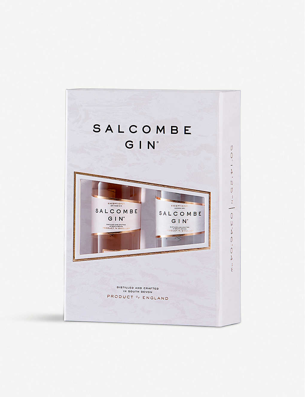 GIN: Salcombe Gin miniature gift set 2 x 50ml