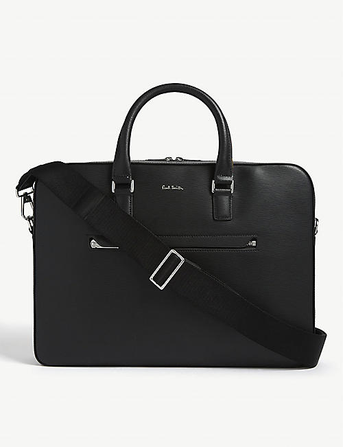PAUL SMITH ACCESSORIES Leather briefcase