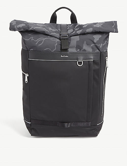PAUL SMITH ACCESSORIES Camouflage print nylon rucksack