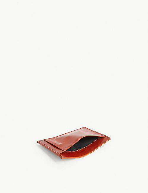 PAUL SMITH ACCESSORIES Polished leather card holder