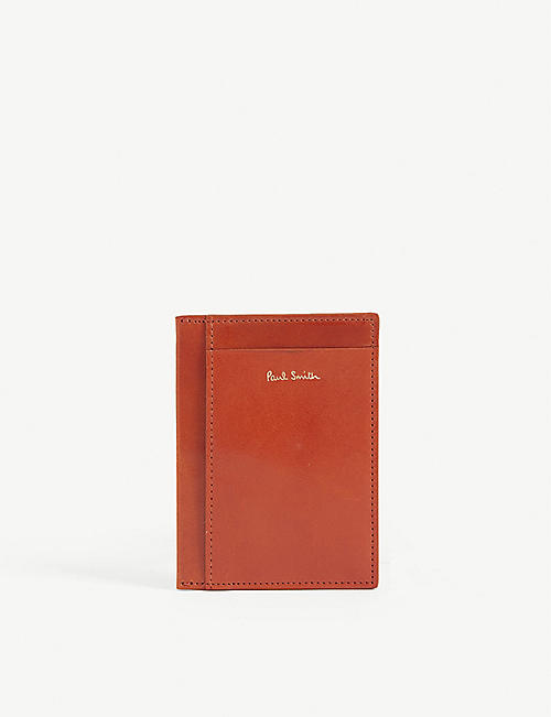PAUL SMITH ACCESSORIES: Polished leather card holder