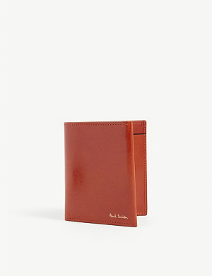 PAUL SMITH ACCESSORIES Polished leather billfold wallet