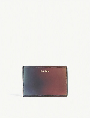 PAUL SMITH ACCESSORIES Gradient leather card holder