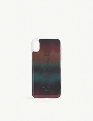 PAUL SMITH ACCESSORIES Striped gradient iPhone X case