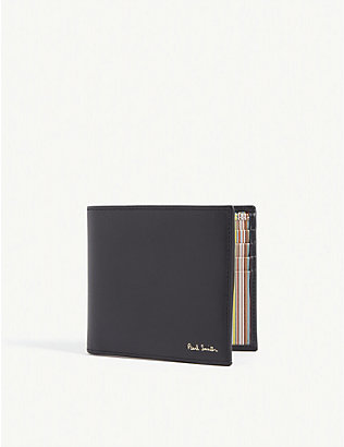 PAUL SMITH ACCESSORIES: Striped leather wallet