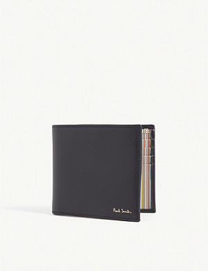 PAUL SMITH ACCESSORIES Striped leather wallet