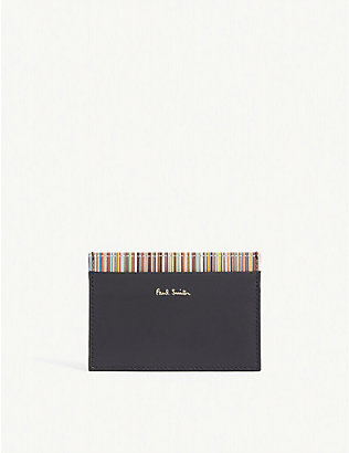 PAUL SMITH ACCESSORIES: Striped leather card holder