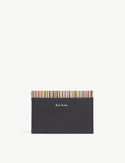PAUL SMITH ACCESSORIES Striped leather card holder