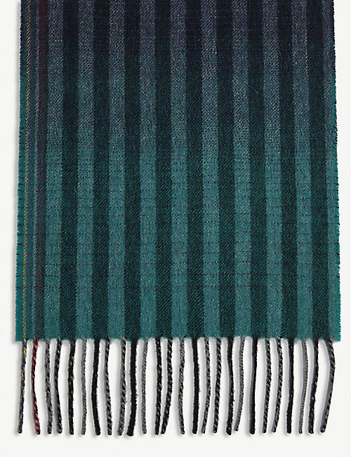 PAUL SMITH ACCESSORIES Gradient striped wool and cashmere scarf