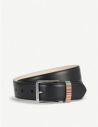 PAUL SMITH ACCESSORIES: Vintage multi-striped keeper belt