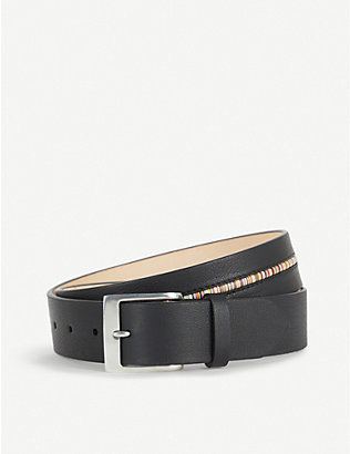 PAUL SMITH ACCESSORIES: Multi-striped middle leather belt