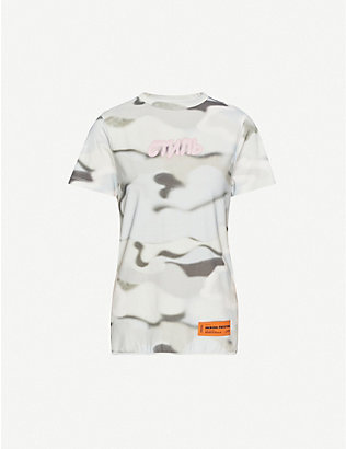HERON PRESTON: Camouflage-print cotton-jersey T-shirt