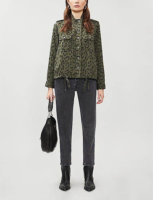 RAILS Collins leopard-print linen-blend twill jacket