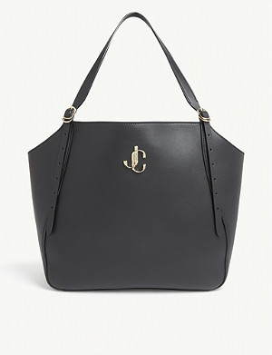JIMMY CHOO Varenne grained leather tote bag