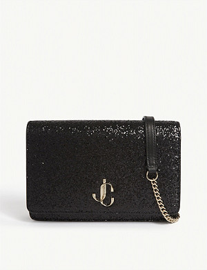 JIMMY CHOO Palace glitter shoulder bag