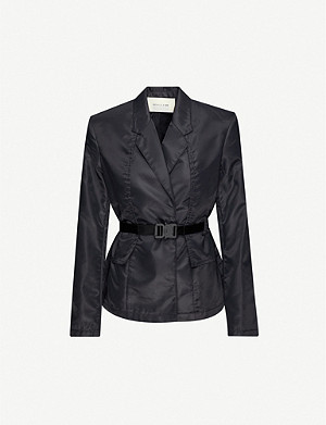 1017 ALYX 9SM Double-breasted belted shell blazer
