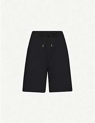 1017 ALYX 9SM: Logo-print high-rise cotton-blend shorts