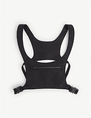 1017 ALYX 9SM: Minimal buckled leather chest rig