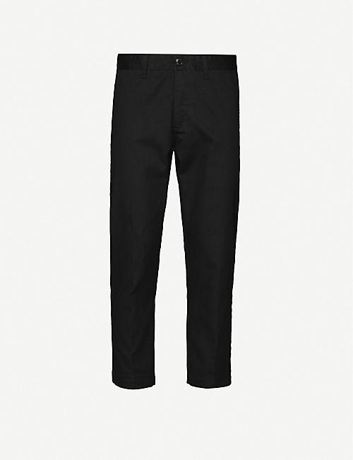 OBEY Straggler straight cotton-blend trousers