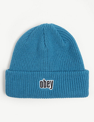 OBEY Jungle ribbed knit beanie