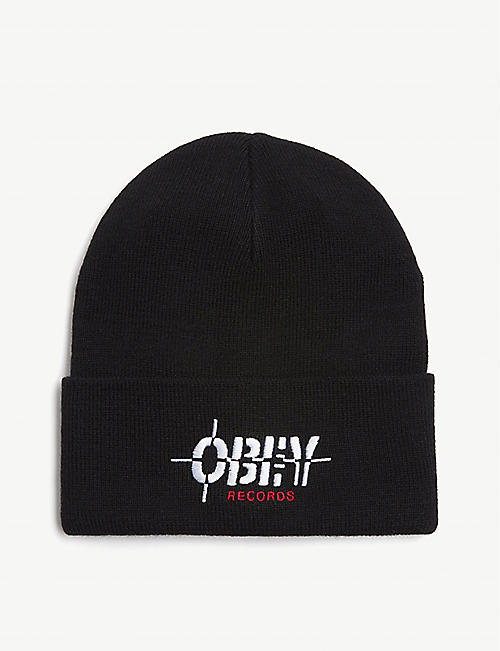 OBEY Records beanie