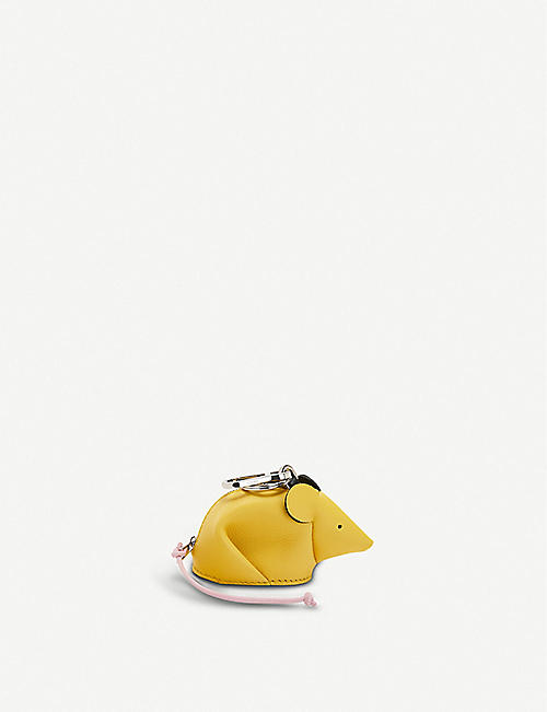 LOEWE Mouse leather coin purse charm