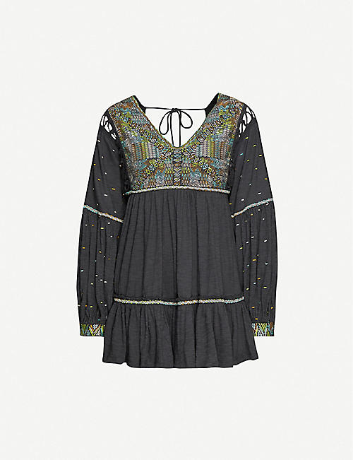 FREE PEOPLE Top Much Love cotton-jersey tunic