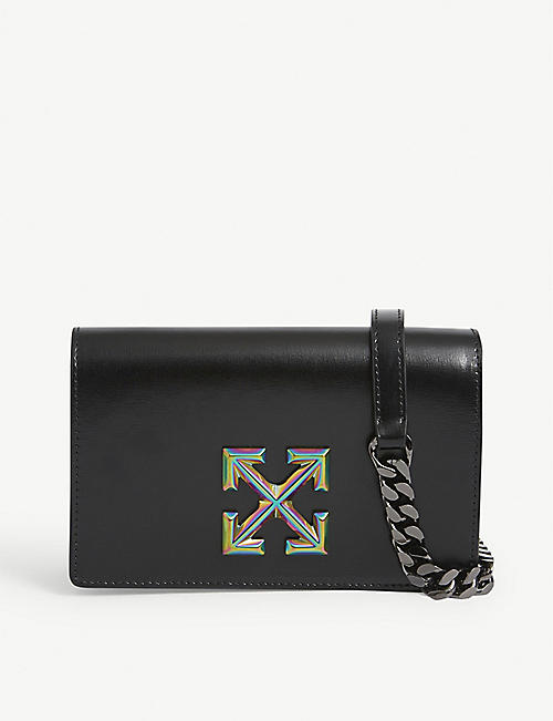 OFF-WHITE C/O VIRGIL ABLOH: Jitney 0.5 leather wallet-on-chain