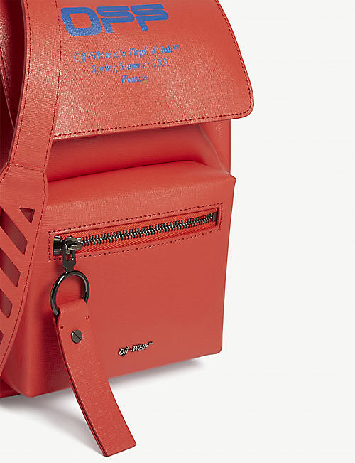 OFF-WHITE C/O VIRGIL ABLOH Binder branded leather backpack