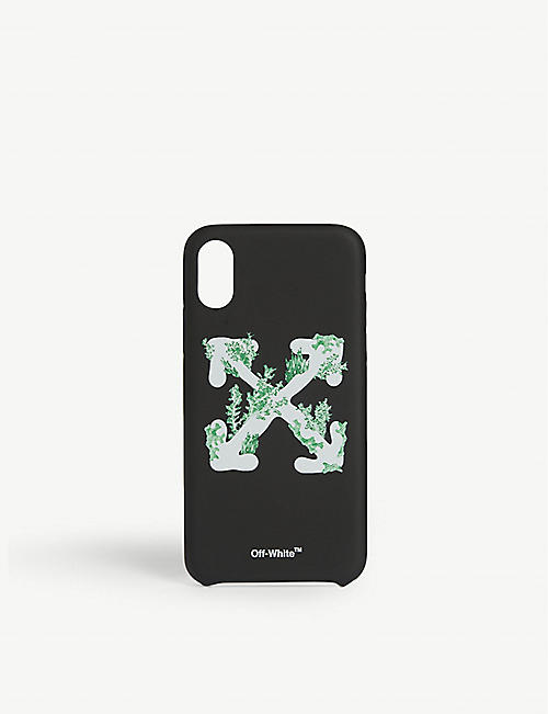 OFF-WHITE C/O VIRGIL ABLOH Logo-print iPhone XS case