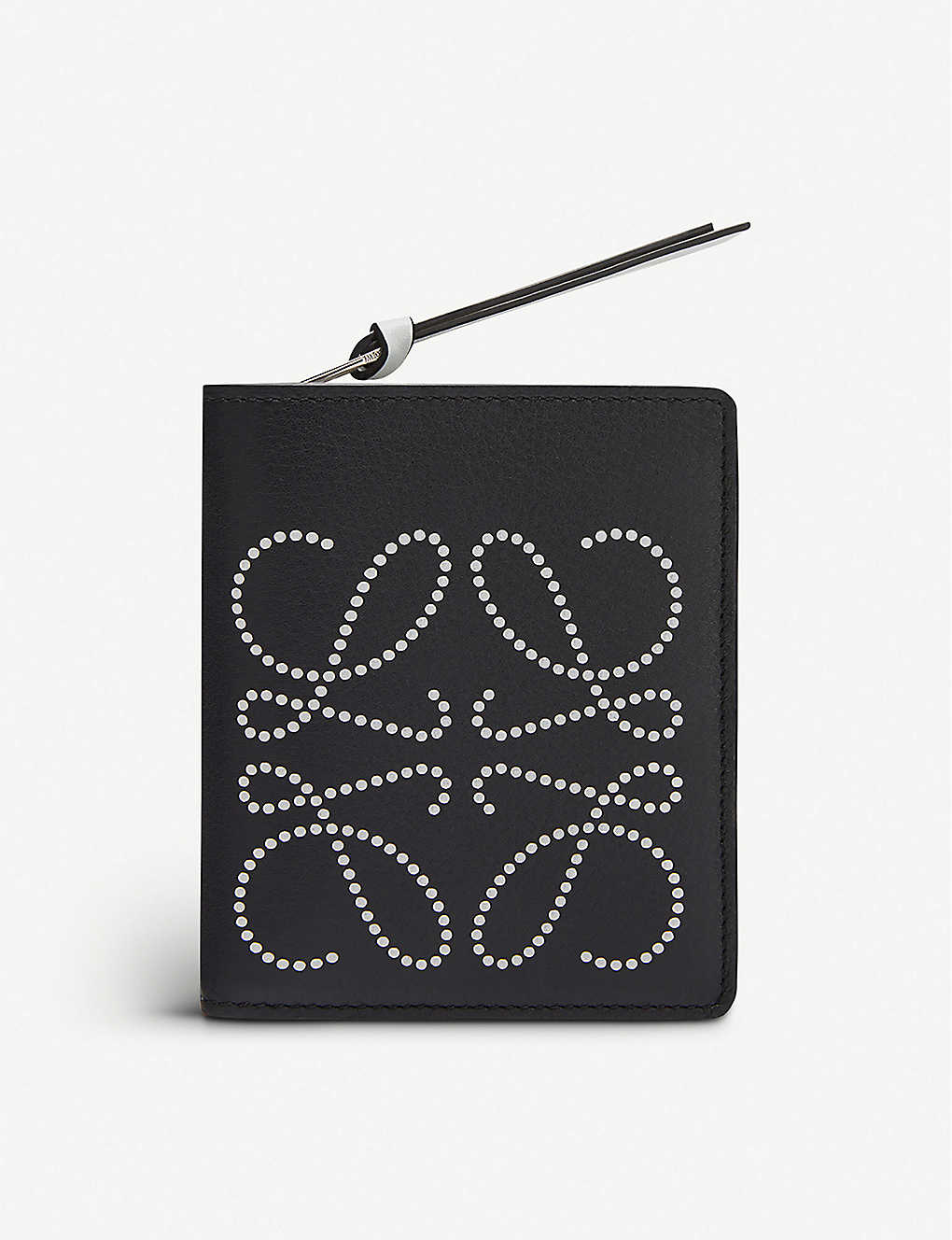 LOEWE: Anagram-embroidered zipped leather purse